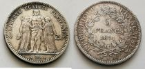 France 5 Francs  Hercules - 1871 K Bordeaux -Silver