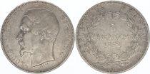 France 5 Francs, Louis-Napoléon Bonaparte - 1852 A Paris - Tête étroite - Argent