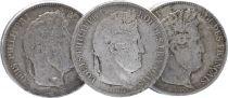 France 5 Francs, Louis-Philippe 1er - années variées 1831 à 1848