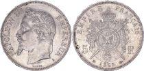 France 5 Francs, Napoleon III - 1868 A SUP