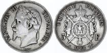 France 5 Francs, Napoleon III - Laureate head (1867-1870) - Silver
