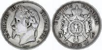 France 5 Francs, Napoléon III - Tête laurée (1867-1870) - Argent
