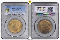 France 5 Francs, PCGS MS64 Lavrillier - 1938 - PCGS MS 64