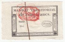 France 5 Francs 28 Ventose An IV (18.3.1796) - Cachet Rouge - SPL
