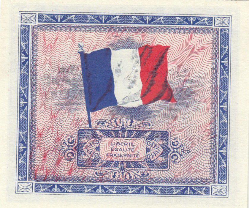France 5 Francs Allied Military Currency - Falg - 1944