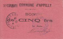 France 5 Francs Appilly Commune