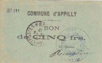 France 5 Francs Appilly Ville