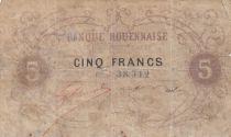 France 5 Francs Banque Rouennaise ND (1870) - Rare !