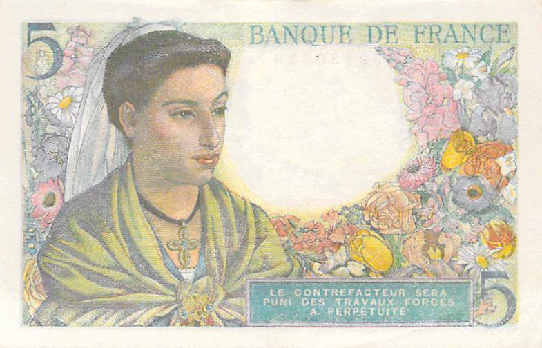 France 5 Francs Berger - 02-06-1943 Série R.16 - TTB+