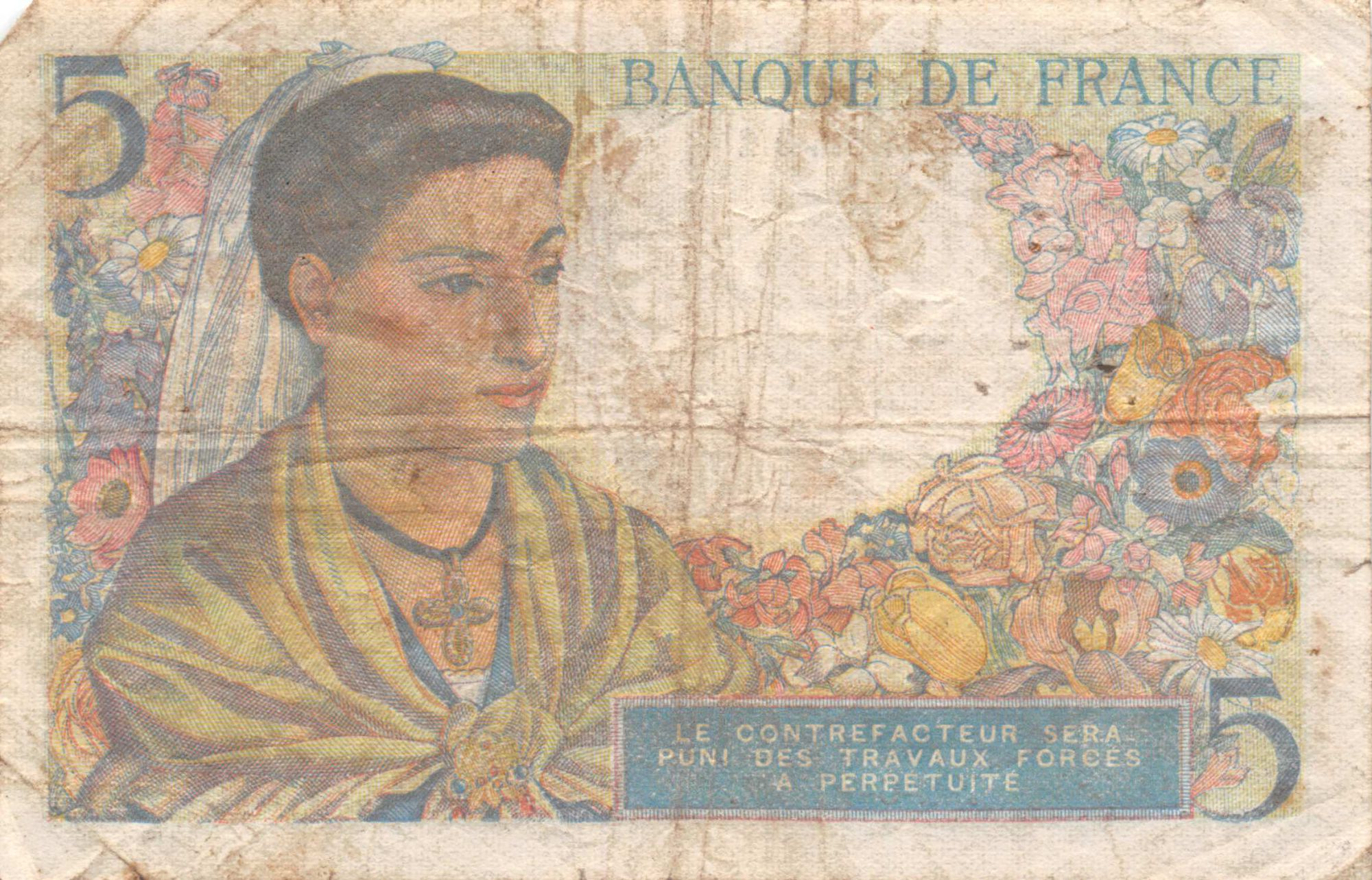 France 5 Francs Berger - 02-06-1943 Série U.24 - TB