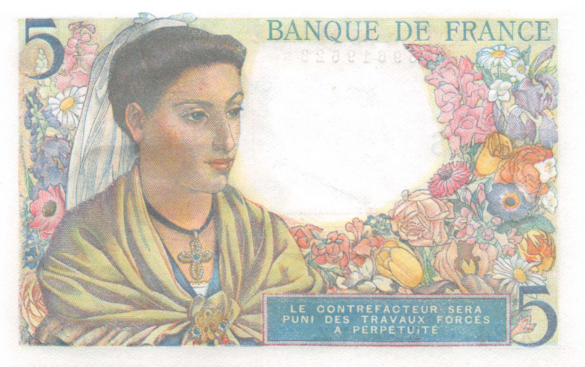 France 5 Francs Berger - 02-06-1943 Série X.24 - NEUF