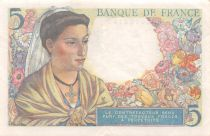 France 5 Francs Berger - 05-04-1945 Série B.121 - TTB