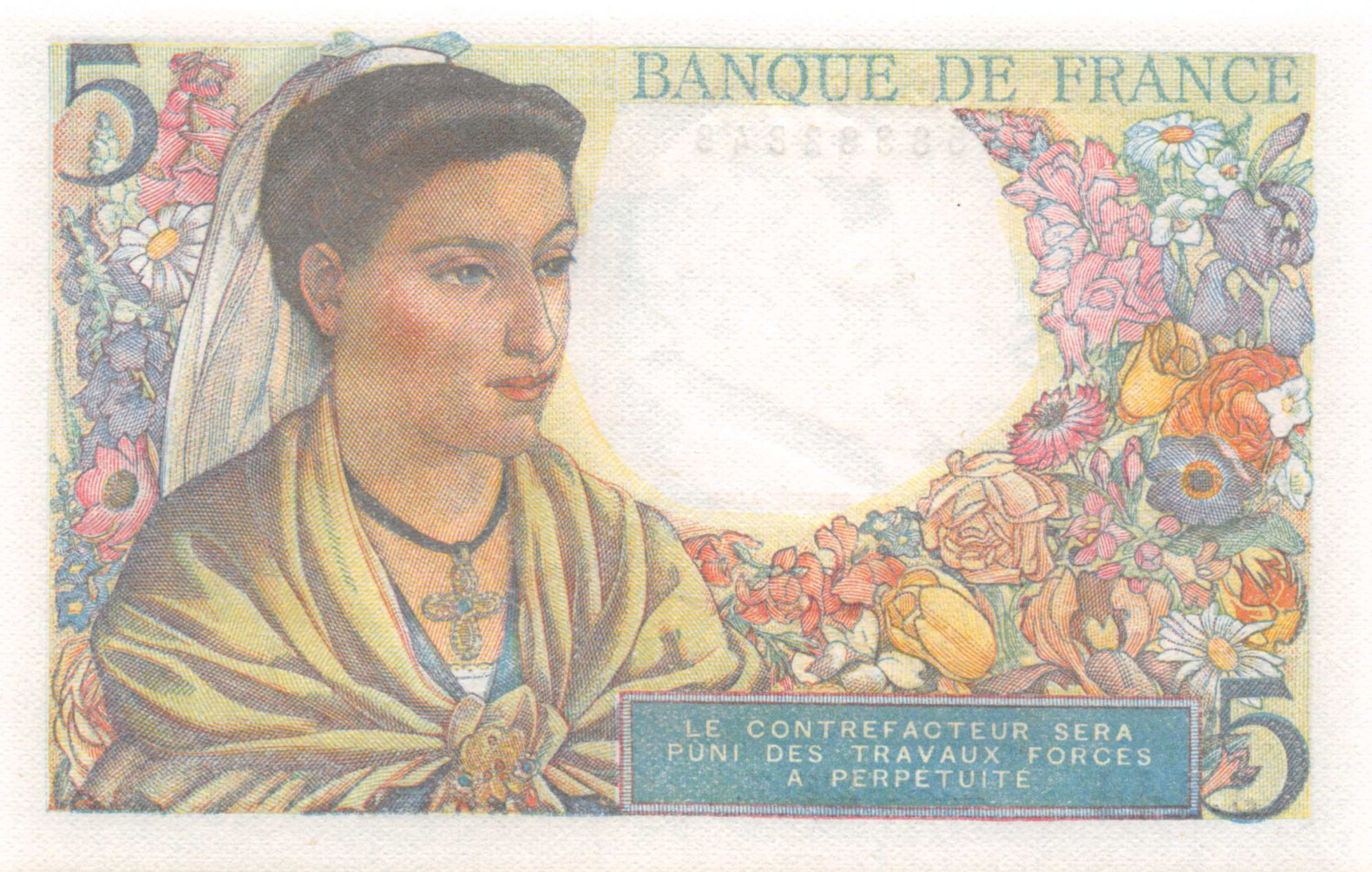 France 5 Francs Berger - 05-04-1945 Série J.144 - NEUF