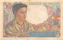 France 5 Francs Berger - 05-04-1945 Série N.142 - TB+
