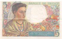 France 5 Francs Berger - 05-04-1945 Série S.140 - TTB+