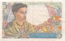 France 5 Francs Berger - 05-04-1945 Série T.147 - TB+