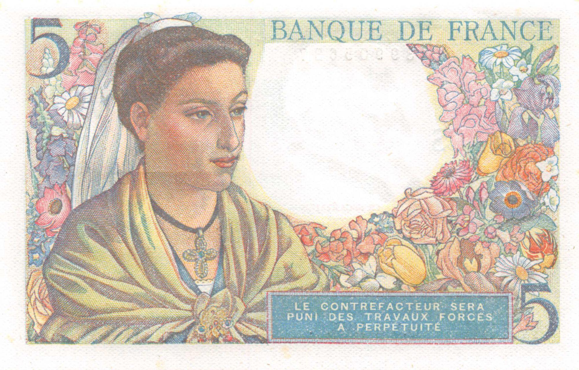 France 5 Francs Berger - 05-04-1945 Série W.136 - NEUF