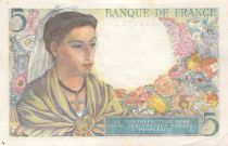France 5 Francs Berger - 05-08-1943 Série B.59 - SUP+