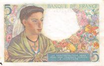 France 5 Francs Berger - 05-08-1943 Série M.64 - SUP