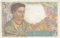 France 5 Francs Berger - 05-08-1943 Série W.57 - TTB