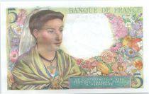 France 5 Francs Berger - 05-08-1943 Série Z.70