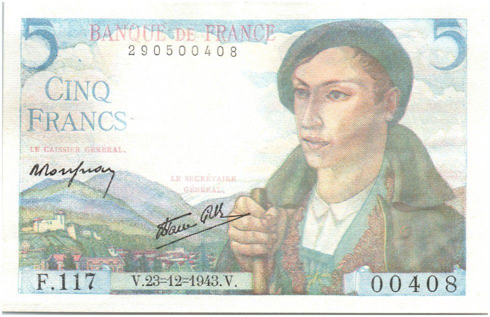 billet de 5 francs 1943