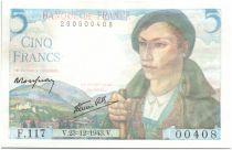 France 5 Francs Berger - 1943