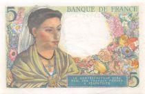 France 5 Francs Berger - 22-07-1943 Série D.41 - TTB+