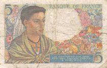 France 5 Francs Berger - 22-07-1943 Série E.39 - TB
