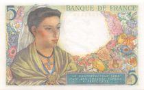 France 5 Francs Berger - 22-07-1943 Série H.44 - NEUF