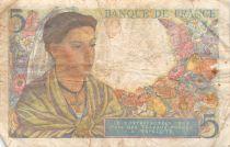 France 5 Francs Berger - 22-07-1943 Série K.39 - TB