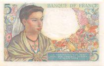 France 5 Francs Berger - 22-07-1943 Série V.47 - SUP