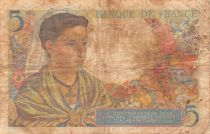 France 5 Francs Berger - 22-07-1943 Série X.47 - PTB
