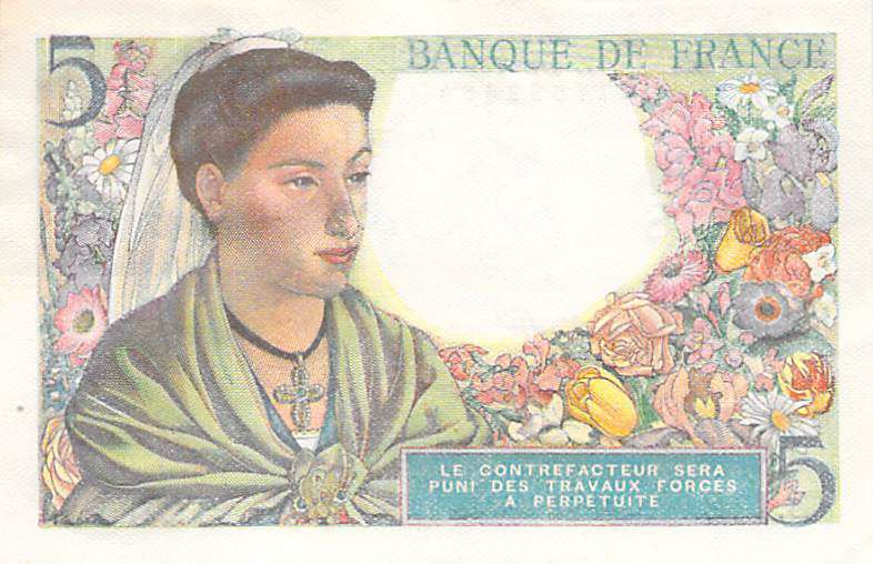 France 5 Francs Berger - 23-12-1943 Série B.112 - SPL