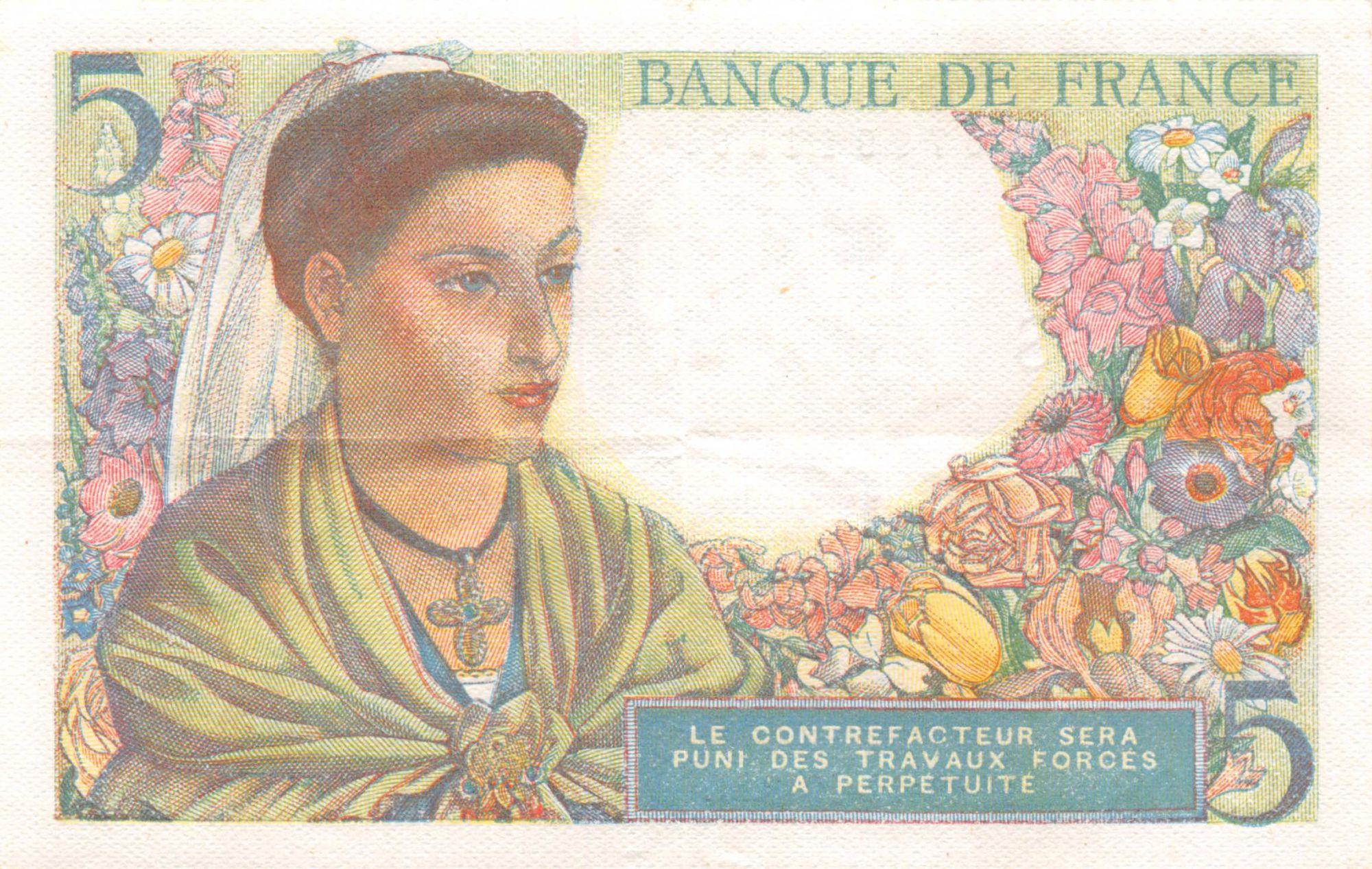 France 5 Francs Berger - 23-12-1943 Série E.108 - TTB+