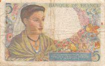 France 5 Francs Berger - 23-12-1943 Série R.100 - TB