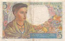 France 5 Francs Berger - 23-12-1943 Série V.101 - TTB