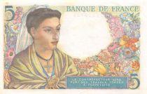France 5 Francs Berger - 23-12-1943 Série Y.113 - SUP+