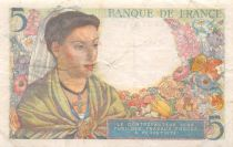 France 5 Francs Berger - 25-11-1943 Série F.76 - TTB