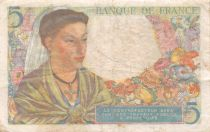 France 5 Francs Berger - 25-11-1943 Série M.78 - TB+