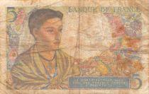France 5 Francs Berger - 25-11-1943 Série N.87 - TB