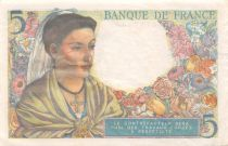 France 5 Francs Berger - 25-11-1943 Série N.96 - TTB+
