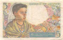 France 5 Francs Berger - 25-11-1943 Série Q.87 - TTB