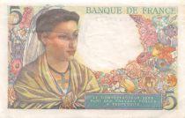 France 5 Francs Berger - 30-10-1947 Série Q.159 - TTB+