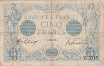 France 5 Francs Bleu  - 15-10-1913 Série W.3318 - TB