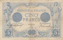 France 5 Francs Bleu  - 16-12-1912 Série Z.1413 - TB