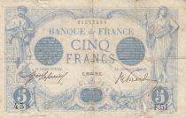 France 5 Francs Bleu  - 20-01-1912 Série F.51- B à TB