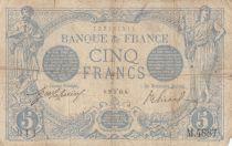 France 5 Francs Bleu  - 25-03-1915 Série M.4887 - PTB