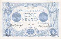 France 5 Francs Bleu -  C.583 - 1912