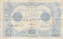 France 5 Francs Bleu - 01-10-1915 Série B.8074